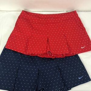 Nike Golf Dri Fit Lot Of 2 Skort Shorts New